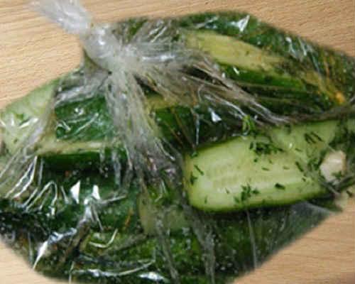 рецепты быстрых малосольных огурцов в пакете