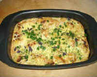 Рыба по-французски в духовке с грибами и сыром