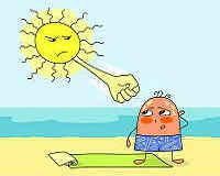 Солнечный удар - симптомы и первая помощь, лечение взрослых и детей