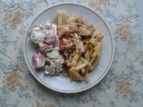 картофель запеченный с фаршем