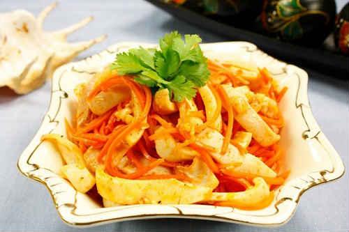 маринованные кальмары по-корейски