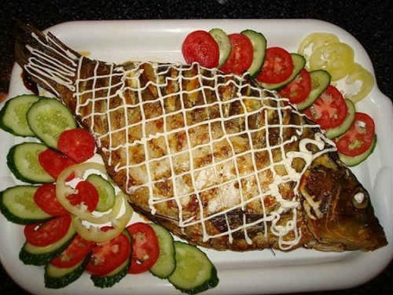 Рыба фаршированная в духовке рецепты с целиком пошаговый рецепт