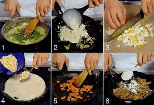 блины с припеком рецепты