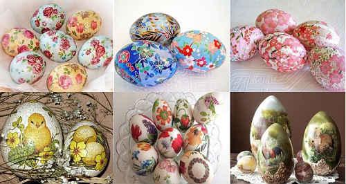 декупаж пасхальных яиц 3