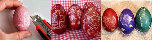 пасхальные яйца драпанки