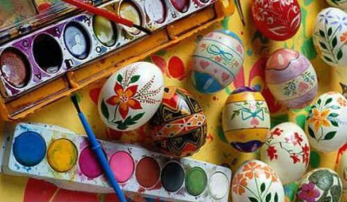 яйца украшение