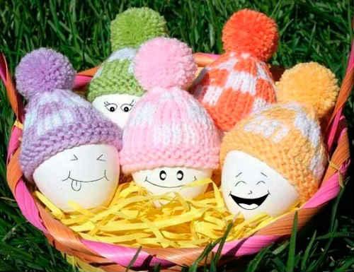 пасхальные яйца вязаные