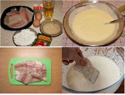 пошаговый рецепт рыбного кляра