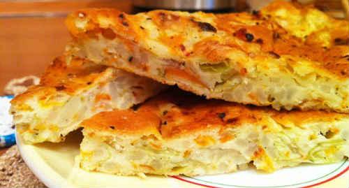 заливной пирог с капустой рецепт на кефире