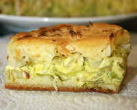 Заливной пирог с молодой капустой на сметане и майонезе — рецепт с фото