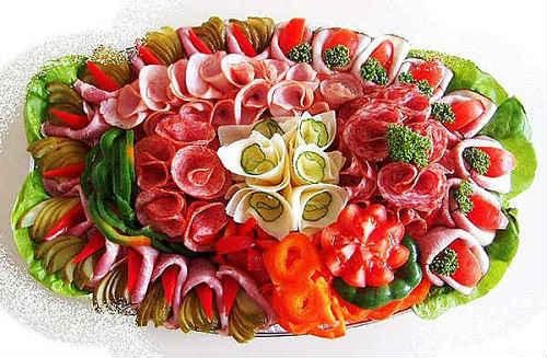 Красивая мясная нарезка: идеи, фото, примеры оформления и ...