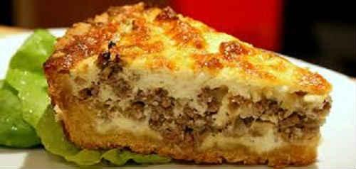 мясной пирог в духовке с картошкой