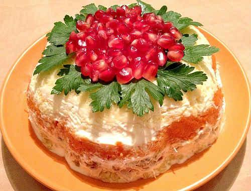 салат красная шапочка рецепты