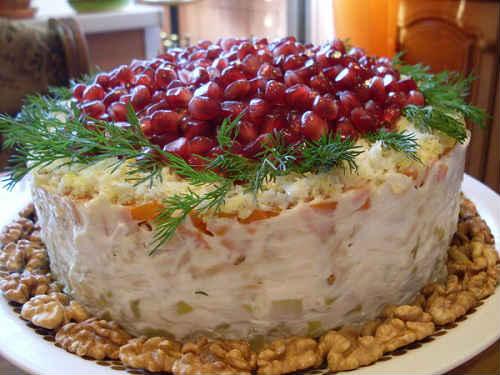 салат красная шапочка с мясом рецепт