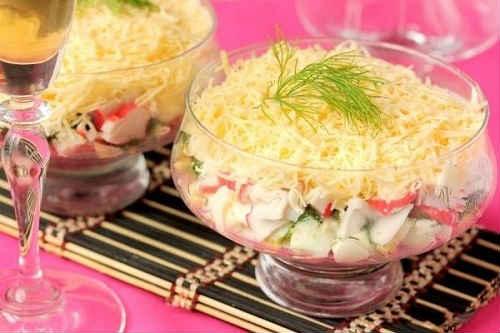 салат слоями