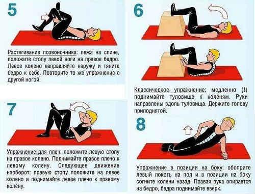 упражнения при ишиасе