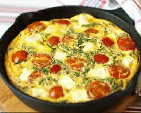 Как приготовить омлет с молоком на сковороде с колбасой, сыром, помидорами