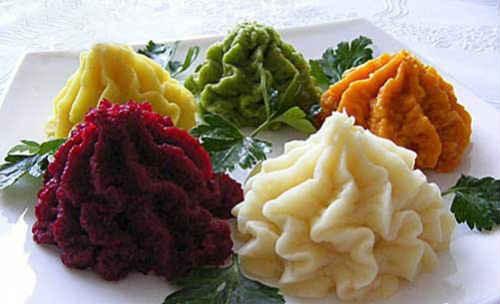 разноцветное пюре