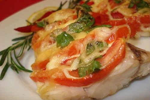 рыба по-гречески с овощами