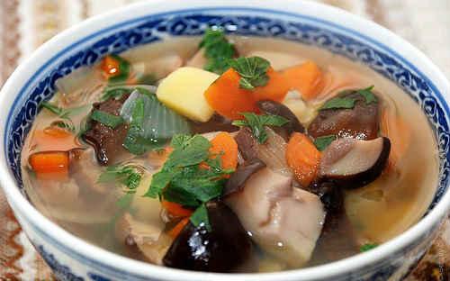 Грибной суп рецепт с перловкой и сыром