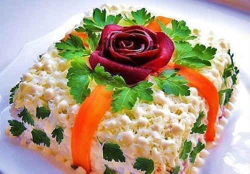 рецепты салатов с виноградом с фото