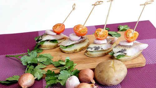 русская закуска с картошкой