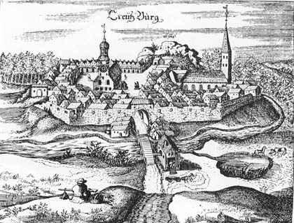 старинная гравюра замка