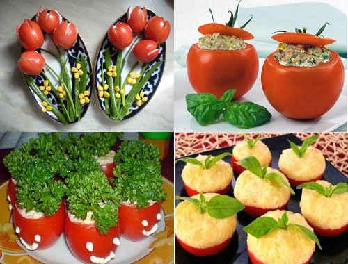 фаршированные помидоры для фуршета