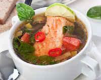 Рыбная солянка - рецепты из семги, консервов, трески, классический