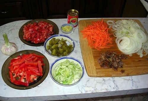 солянка рецепт с фото ингредиенты