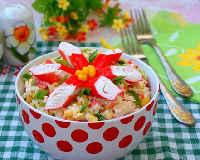 Салаты с крабовыми палочками - вкусные рецепты с кукурузой, капустой, рисом, классический