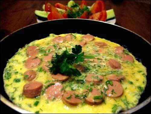 омлет с помидорами рецепт на сковороде с молоком