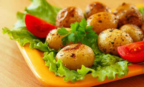 картошка с кожурой