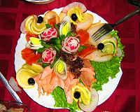 Рыбная нарезка на праздничный стол - оформление, подача, фото, украшение