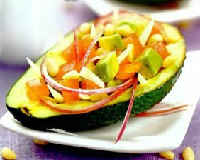 Салат с авокадо - рецепт с крабовыми палочками, огурцом, яйцом, помидорами, кукурузой