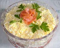 Классический рецепт салата с курицей и ананасами, слоями, с грибами, орехами, кукурузой