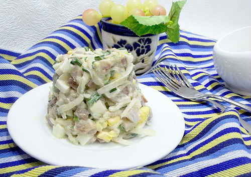 селедка с картошкой салат