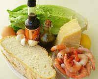 классический рецепт Цезаря с креветками