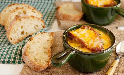 луковый суп с сыром
