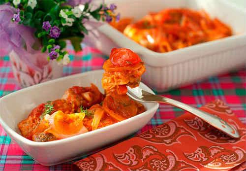горбуша с овощами запеченная в духовке