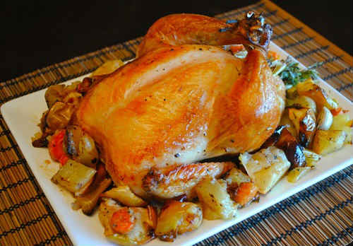 курица в духовке на банке