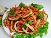 Кальмары по-корейски - самые вкусные рецепты приготовления