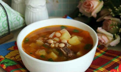 суп из белой фасоли