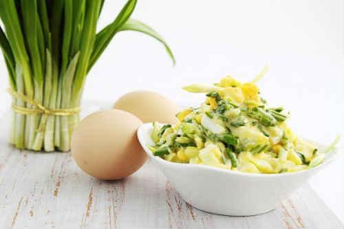 черемша с яйцом