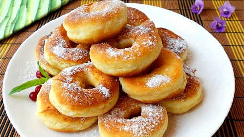 пончики на молоке рецепт