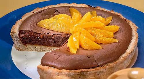 шоколадный апельсиновый пирог