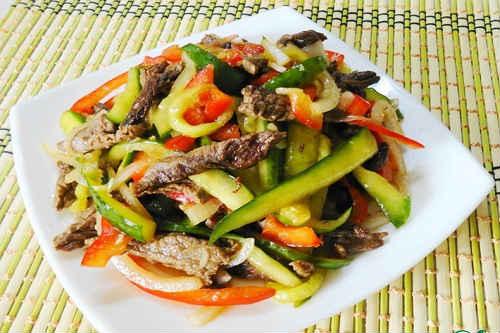 рецепт салата из говядины