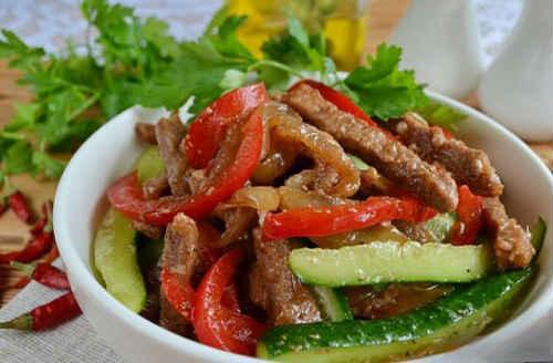 салат из говядины