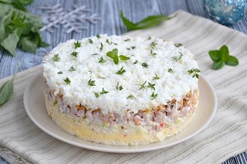 новогодний салат «Снежная королева»
