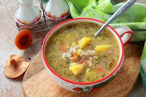 грибной суп с перловкой из грибов